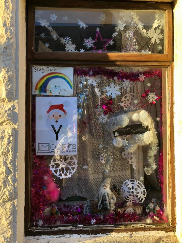 Window with decorations